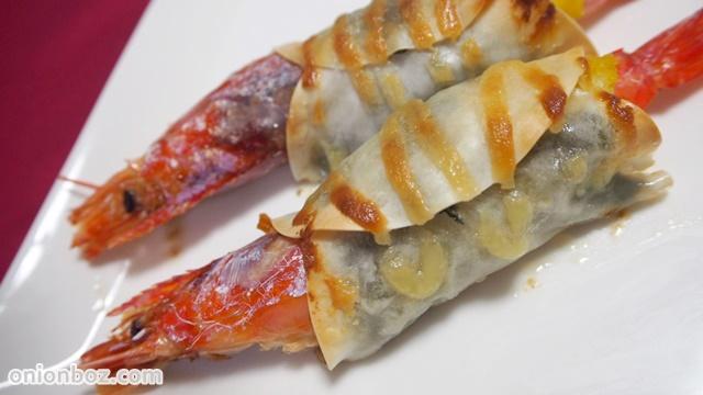 餃子の皮DEエビのポテト包み焼き☆