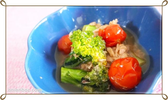 ブロッコリーとツナのサッと煮