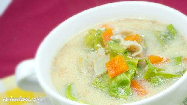 キャベツたっぷり☆豆乳みそスープ