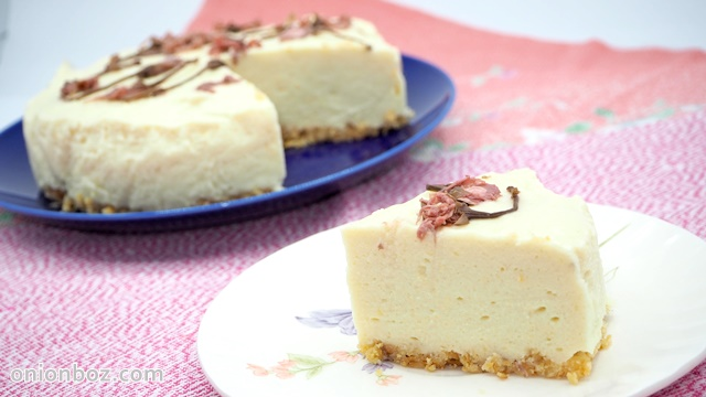 桜咲く☆じゃがいものレアチーズケーキ
